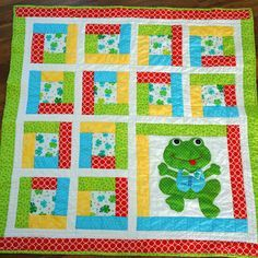 Frog Baby Quilt--try this with turtles