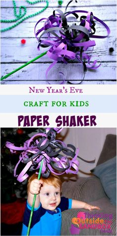 New Year's Eve Craft For Kids Paper Shaker Craft