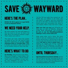 Wayward Daughters | Supernatural fandom #SaveWaywardDaughters