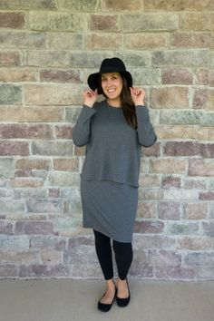 Andrea from @mommainflipflop loves her Pure Jill Luxe Tencel tiered dress for everyday wear.