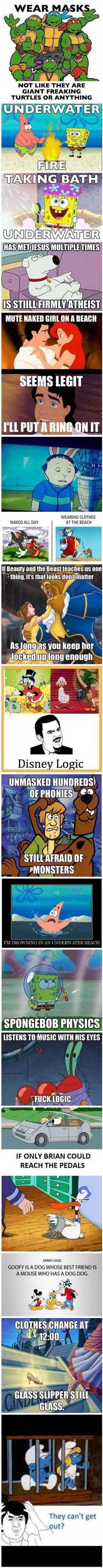 Zeichentrick Logik