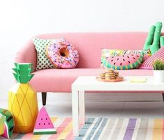 Home Decoration Living Room Flat Interior, Interior And Exterior, Pink Sofa, Interior Decorating, Interior Design, Colorful Decor, Home Gifts, House Colors, Decoration