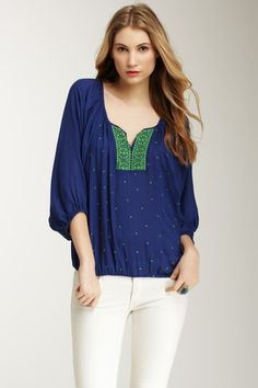 Carmen Embroidered Dolman Top » This is very me! Love it!