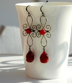 Could make into a crossn wire earrings