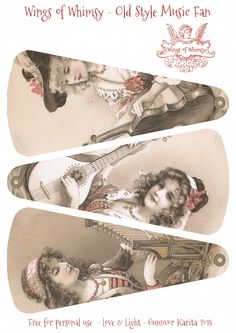 Wings of Whimsy: 1906 May Bowley Old Style Music Ladies Fan