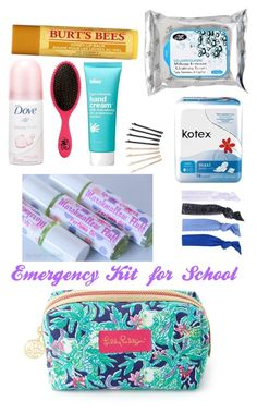 Emergency kit for girls, school emergency kit, school survival kits, school kit, School Emergency Kit, Emergency Kit For Girls, School Kit, Emergency Kits, Schul Survival Kits, Survival Quotes, Survival Prepping, Survival Skills, Period Kit
