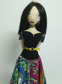 Cloth doll by Janet