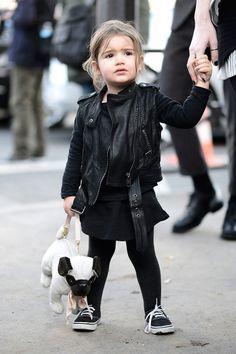 all black rocker style, cute.