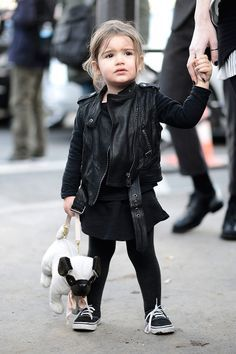 all black rocker style, cute.