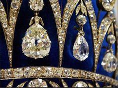 Several of the briolette diamonds inherited by Eugene, son of Josephine, later Duke of Leuchtenberg. Eugene and Augusta's youngest son, Maximillian, 3rd Duke of Leuchtenberg, wed Grand Duchess Maria Nikolaevna of Russia, daughter on Tsar Nikolas I, on 2 July 1839.