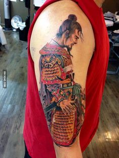Liu Bei warrior tattoo except for the hand./ ??/