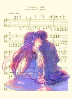 Sword Art Online Kirito and Asuna Kiss Art Print by AmourPrints