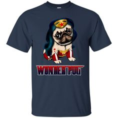 Wonder Woman Pug T shirts Wonder Pug Hoodies Sweatshirts