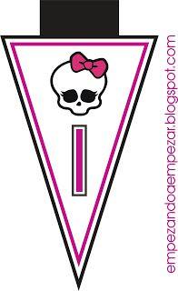 Alfabeto de Monster High en banderines. | Oh my Alfabetos!
