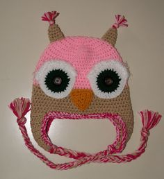 Owl hat made for my great niece...Isabella...green eyed version...its a toddler size