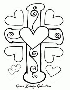 Valentine's Day Coloring Page for Sunday school Jesus ...