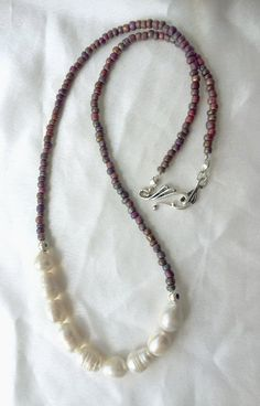 Jumbo freshwater pearl necklace by #WildThingsAdornments on #Etsy