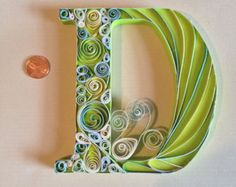 Quilled wall art, quilled paper art, quilled letter, monogram , freestanding letter
