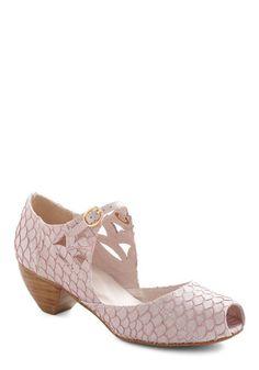 Seabreeze Celebration Heel - Pink, Animal Print, Cutout, Mary Jane, Chunky heel, Mid, Leather, Luxe