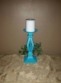 Check out this item in my Etsy shop https://www.etsy.com/listing/245588986/aqua-candle-holder-aqua-painted-and