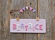 Are you interested in our Childrens bedroom door sign? With our Childrens name plaque you need look no further. Door Plaques, Name Plaques, Wooden Plaques, Wooden Decor, Wooden Crafts, Bedroom Door Signs, Bedroom Doors, Diy Bedroom, Front Door Makeover