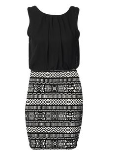 #CLOTHING CLOSET TRIBAL BODYCON SKIRT DRESS WITH BLACK TOP by rubyredboutique.co.uk for £22.50