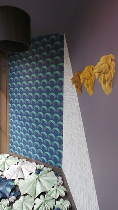 Arcade and Enigma, two of our new wallpapers are showcased in this window display from Detam Décor in Quaëdypre, France