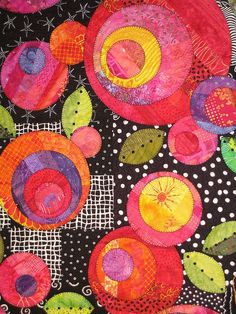 Love the pops of color against the black and white. Would look great with the Batik Tambal Batiks at Artistic Artifacts