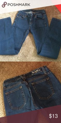Dark Wash Straight Cut Jeans No fading in knees only worn a few times Vigoss Jeans Straight Leg