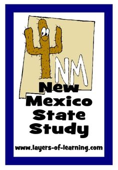 Use the ideas presented in this New Mexico State study when working on the 50 US States series of Layers of Learning. Printable New Mexico map included. New Mexico Map, New Mexico Road Trip, New Mexico History, Mexico For Kids, Road Trip Theme, Mexico Pictures, Geography Lessons, History For Kids, Too Cool For School