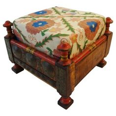 Check out this item at One Kings Lane! Suzani-Upholstered Low Stool