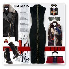 """LBD: Balmain"" by esch103 ❤ liked on Polyvore featuring Balmain, Reiss, Louise Coleman, Roberta Di Camerino, Ray-Ban, Chanel, LBD and balmain"