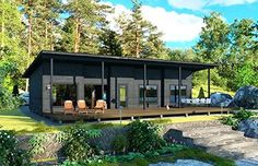 love the overhang over front deck Cottage Design, Tiny House Design, New House Plans, Small House Plans, Off Grid House, Tiny House Loft, Casas Containers, Contemporary House Plans, Exterior Makeover