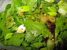 My Mom s Wilted Lettuce from Food.com:   This was my ma's recipe passed on to me--don't know any other way to make it and I'm 58 years old. This is really an old-fashioned dish.