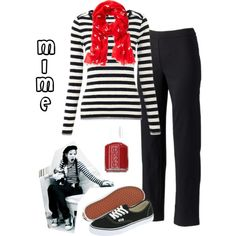 """Halloween Costume - Mime"" by mommy389 on Polyvore"