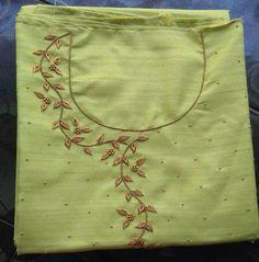 Buy Designer Kurtis Online, Buy Pakistani, Anarkali, & W Kurtis Online Zardosi Embroidery, Embroidery On Kurtis, Pearl Embroidery, Hand Embroidery Dress, Kurti Embroidery Design, Embroidery Neck Designs, Bead Embroidery Patterns, Simple Embroidery, Hand Embroidery Stitches