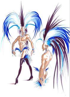 Thierry Mugler Zumanity Cirque du soleil   Idea to sketch for Imajyn