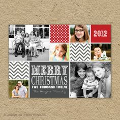 Photo collage Christmas card custom photo by saralukecreative, $18.00