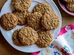Get Brown Sugar Oatmeal Cookies Recipe from Food Network-Ree Drummond Brown Sugar Oatmeal Cookie Recipe, Oatmeal Cookie Recipes, Cookie Desserts, Cookie Bars, Oatmeal Dessert, Gourmet Cookies, Dessert Dishes, Cookie Swap, Dessert Bars