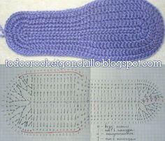 Crochet Patrones Ganchillo Pantuflas 54 Ideas For 2019 Crochet Sole, Crochet Slipper Pattern, Crochet Sandals, Crochet Boots, Tunisian Crochet, Crochet Blanket Patterns, Crochet Baby, Diy Crafts Crochet, Knitted Slippers