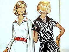 1970s Vintage Dress Pattern Butterick Misses size 16 UNCUT by PatternsFromThePast