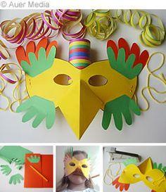 Pyssel: Fågelmask, skriv ut mallar och pyssla med barn!