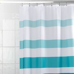 teal striped shower curtain. Teal Stripe Shower Curtain Sea based shower curtain  This took way longer to find than I