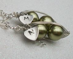 Best Friends or Twins Peas in a Pod with by Kikiburrabeads on Etsy, $32.00