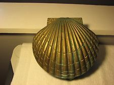 Vintage Large PENCO Solid Brass SEASHELL DOOR KNOCKER Nautical Shell Clam