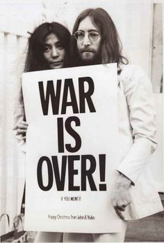 John Lennon and Yoko Ono War Is Over Poster 24x36 – BananaRoad