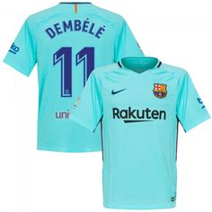 Camiseta del Barcelona 2017-2018 Visitante + Dembélé 11 (Dorsal Oficial)   shirts 63a81b11160
