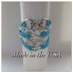 Double Owl Infinity Love and Anchor Bracelet by QberryCreations, $15.00