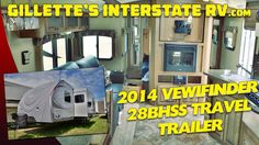 2014 VIEWFINDER 28BHSS BUNK HOUSE TRAVEL TRAILER BY CRUISER RV --- Gillette's Interstate RV Rv Videos, Youtube, House, Travel, Viajes, Home, Haus, Trips, Traveling