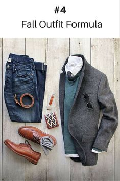 Outfit grid - Jacket, jeans and Italian calfskin belt Mens Fall Outfits, Casual Outfits, Casual Wear, Mens Casual Suits, Winter Outfits, Mode Masculine, Look Fashion, Autumn Fashion, Fashion Sale